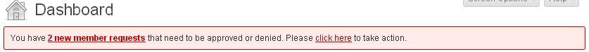 spam 2 members request